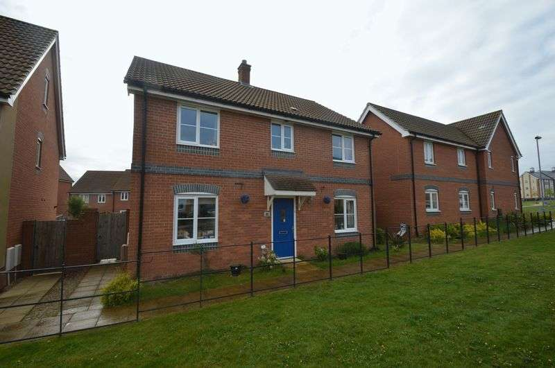 4 Bedrooms Detached House for sale in Poethlyn Drive, Queens Hill, Norwich
