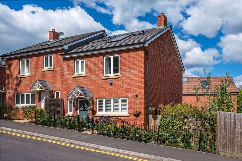 4 Bedrooms Semi Detached House for sale in Burnt Hill Road, Lower Bourne, Farnham, Surrey