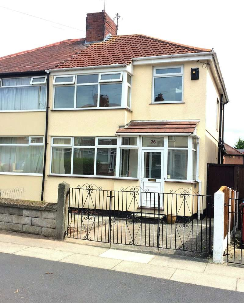 3 Bedrooms Semi Detached House for sale in Corwen Crescent, Huyton, Liverpool L14 6TB