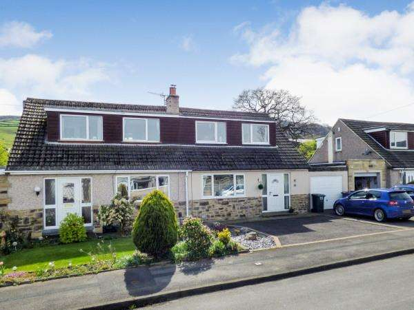3 Bedrooms Semi Detached House for sale in 11 Green Close, Eastburn BD20 8UX