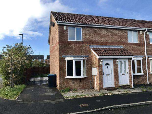 2 Bedrooms Terraced House for sale in CHANDLER CLOSE, GILESGATE, DURHAM CITY