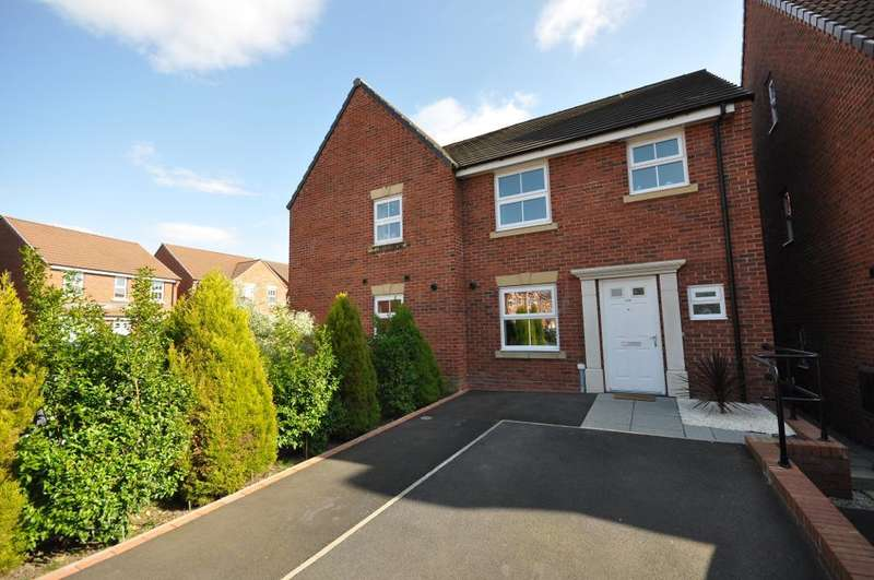 3 Bedrooms Semi Detached House for sale in Parish Gardens, Leyland, Preston, Lancashire, PR25 3UT