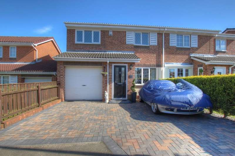 3 Bedrooms Semi Detached House for sale in Brackenbeds Close, Pelton, Chester Le Street, DH2