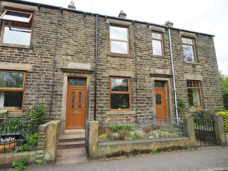 3 Bedrooms Terraced House for sale in High Hill Road, Birch Vale, High Peak, Derbyshire, SK22 1BA