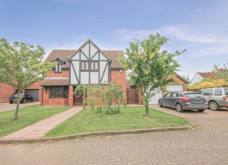 4 Bedrooms Detached House for sale in Chequers Close, Marston Moretaine, Lower Shelton, MK43