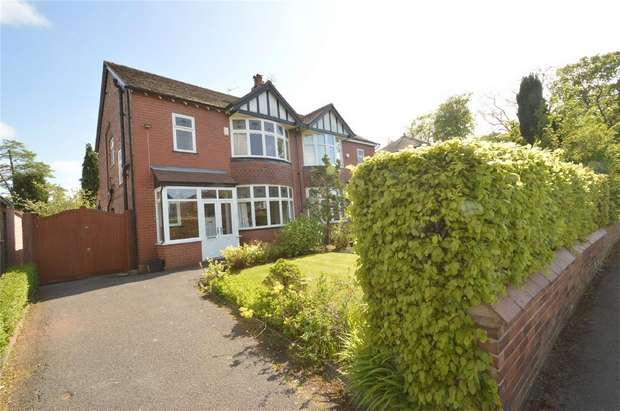 3 Bedrooms Semi Detached House for sale in Woodsmoor Lane, Davenport, Stockport