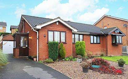2 Bedrooms Bungalow for sale in Westwood Close, Inkersall, Chesterfield, Derbyshire