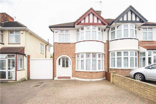 3 Bedrooms Semi Detached House for sale in Sandhurst Road, KINGSBURY, NW9 9LJ