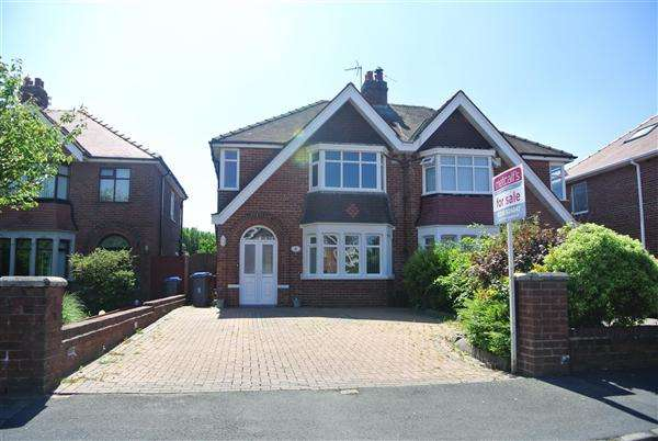 3 Bedrooms Semi Detached House for sale in Gregory Avenue, Blackpool