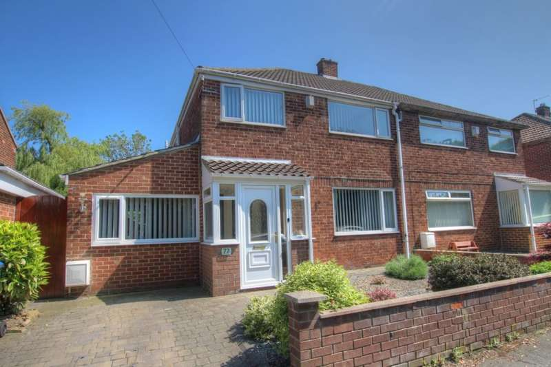 3 Bedrooms Semi Detached House for sale in Swinside Drive, Carville, Durham, DH1