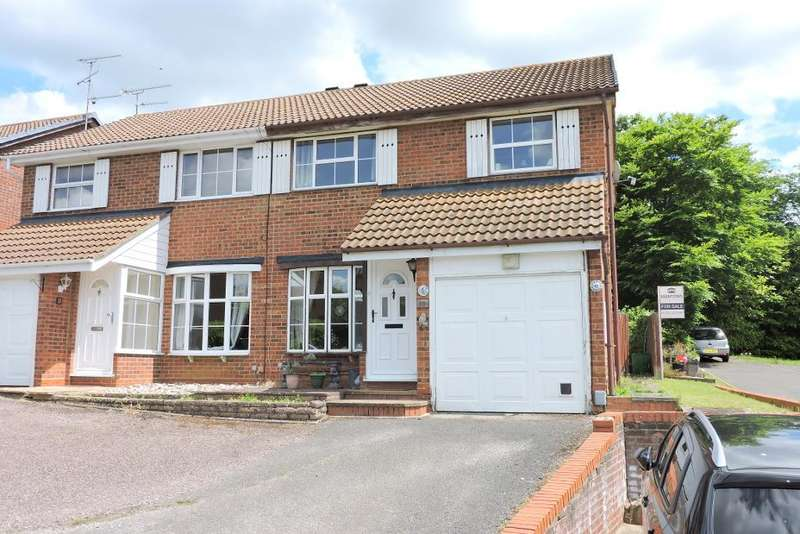 3 Bedrooms Semi Detached House for sale in Corinium Gardens, Luton, Bedfordshire, LU3 4DB