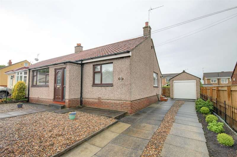 2 Bedrooms Semi Detached Bungalow for sale in Station Road, Meadowfield, Durham, DH7