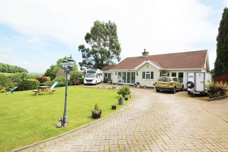4 Bedrooms Detached Bungalow for sale in Court Rise, Llanddewi Rhydderch, Abergavenny, NP7