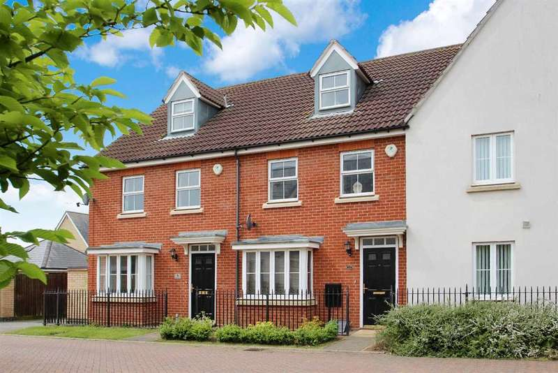 3 Bedrooms Town House for sale in Bull Drive, Grange Farm, Kesgrave, Ipswich