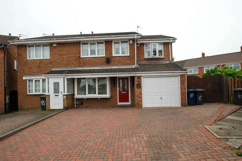 4 Bedrooms Semi Detached House for sale in Westcliffe Way, South Shields