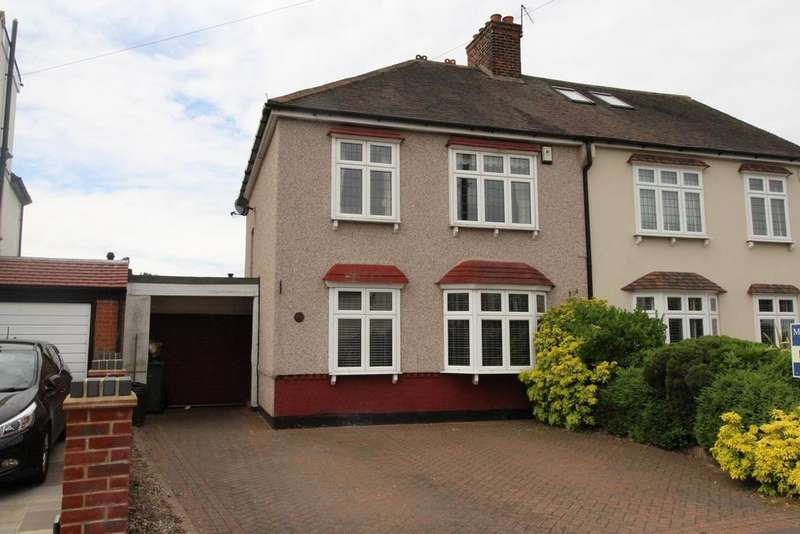3 Bedrooms Semi Detached House for sale in Sunnyside Gardens, Upminster, Essex, RM14