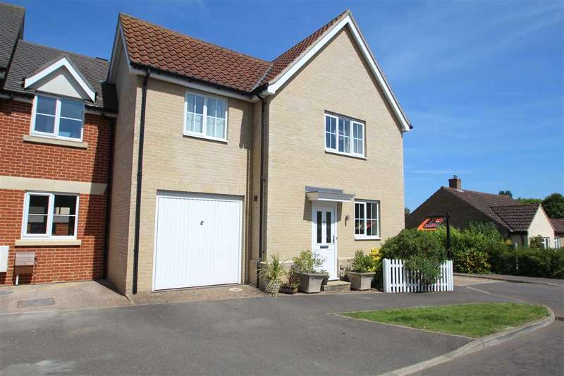 3 Bedrooms Link Detached House for sale in Crownfield Road, Glemsford