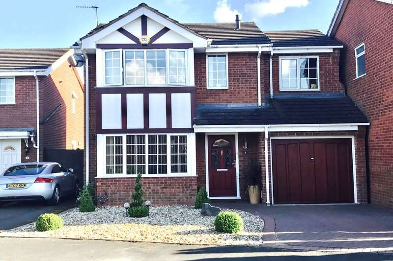 4 Bedrooms Detached House for sale in The Windrow, Perton, Wolverhampton, WV6