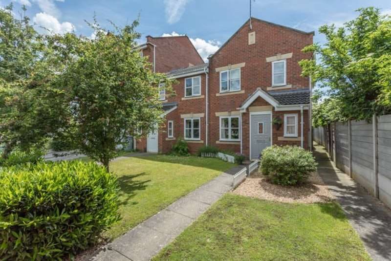 3 Bedrooms End Of Terrace House for sale in Cludd Avenue, Newark, Nottinghamshire, NG24