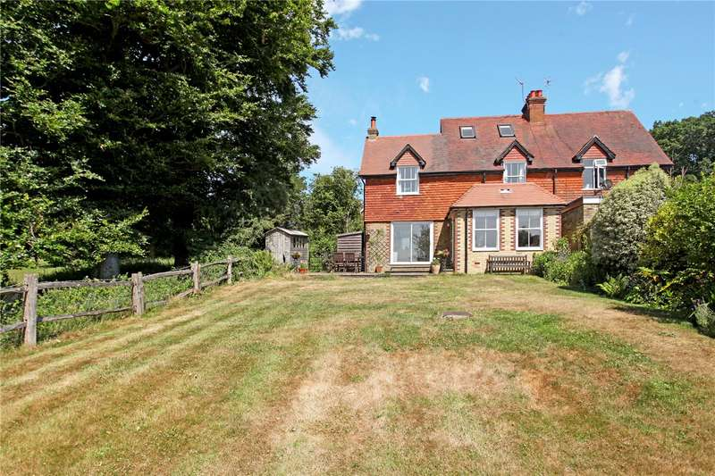 4 Bedrooms Semi Detached House for sale in High Hoe Cottages, Hoe Lane, Peaslake, Guildford, GU5