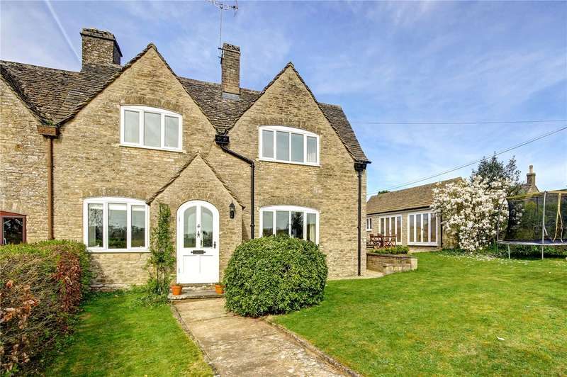 3 Bedrooms Semi Detached House for sale in Itlay, Daglingworth, Cirencester, Gloucestershire, GL7
