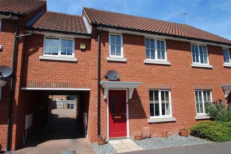 3 Bedrooms Terraced House for sale in Tremlett Lane, Grange Farm, Kesgrave, Ipswich