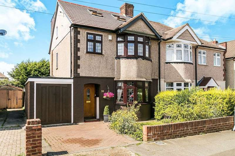 4 Bedrooms Semi Detached House for sale in Wentworth Drive, Dartford, DA1