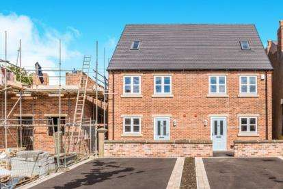 3 Bedrooms Semi Detached House for sale in Acres Court, The Acres, Lower Pilsley, Chesterfield