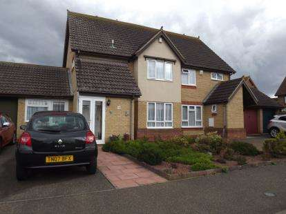3 Bedrooms Semi Detached House for sale in Merlin Drive, Sandy, Bedfordshire