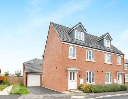 3 Bedrooms Semi Detached House for sale in Lossiemouth Road Kingsway, Quedgeley, Gloucester, Gloucestershire