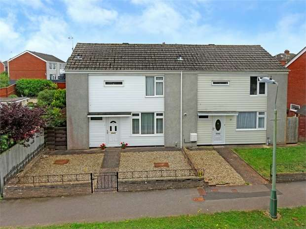 3 Bedrooms Semi Detached House for sale in Carlyon Gardens, Heavitree, Exeter, Devon