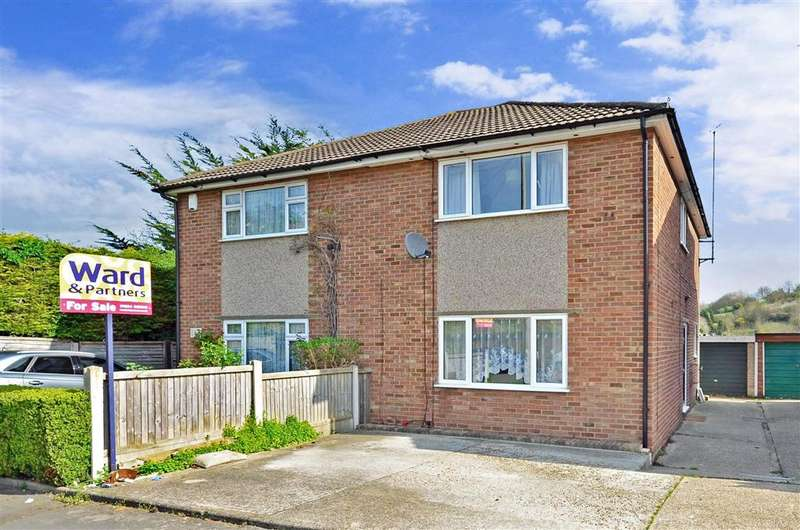 3 Bedrooms Semi Detached House for sale in Sherwood Avenue, Walderslade, Chatham, Kent