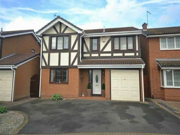 4 Bedrooms Detached House for sale in Newlyn Close, Horeston Grange, Nuneaton, Warwickshire