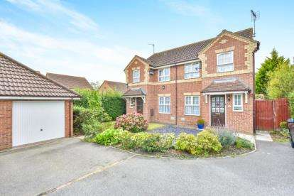 3 Bedrooms Semi Detached House for sale in Kirkstall Place, Oldbrook, Milton Keynes