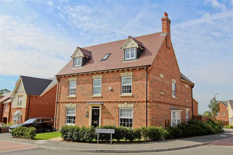 5 Bedrooms Detached House for sale in Bosworth Way, Anstey, Leicester