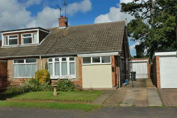 2 Bedrooms Semi Detached Bungalow for sale in Knightscliffe Way, Duston, Northampton NN5 6DF