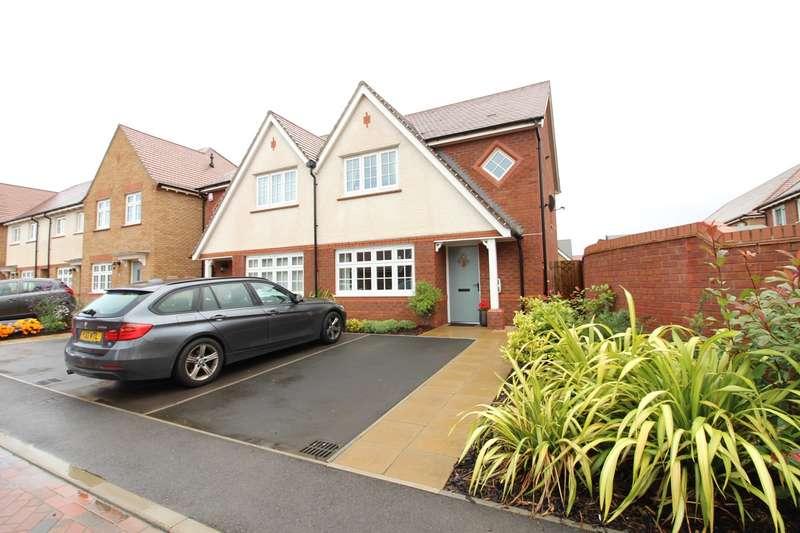 3 Bedrooms Semi Detached House for sale in Llanvair Grange Close, Newport, Newport, NP20