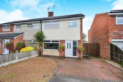 3 Bedrooms Semi Detached House for sale in Hatfield Close, Rainworth, Nottinghamshire