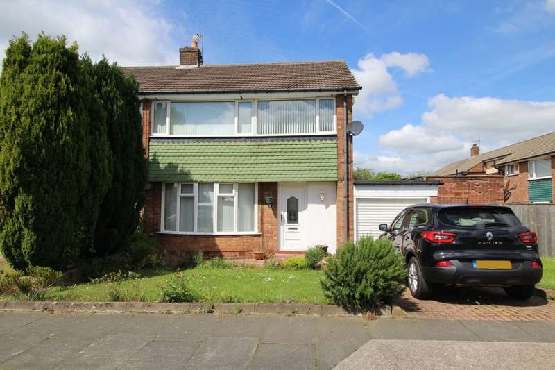 3 Bedrooms Semi Detached House for sale in Aisgill Drive, Chapel House, Newcastle Upon Tyne, NE5
