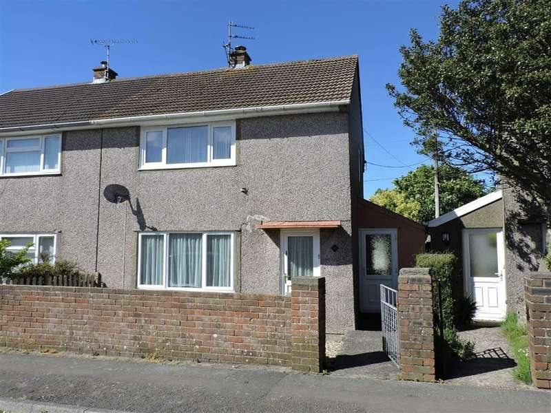 3 Bedrooms Semi Detached House for sale in Maesgrug, Stop And Call, Goodwick