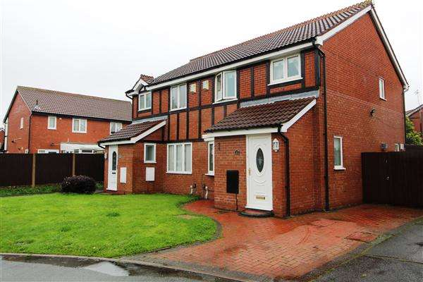 3 Bedrooms Semi Detached House for sale in Moorfoot Way, Kirkby