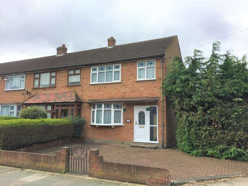 3 Bedrooms End Of Terrace House for sale in Cross Road, Romford