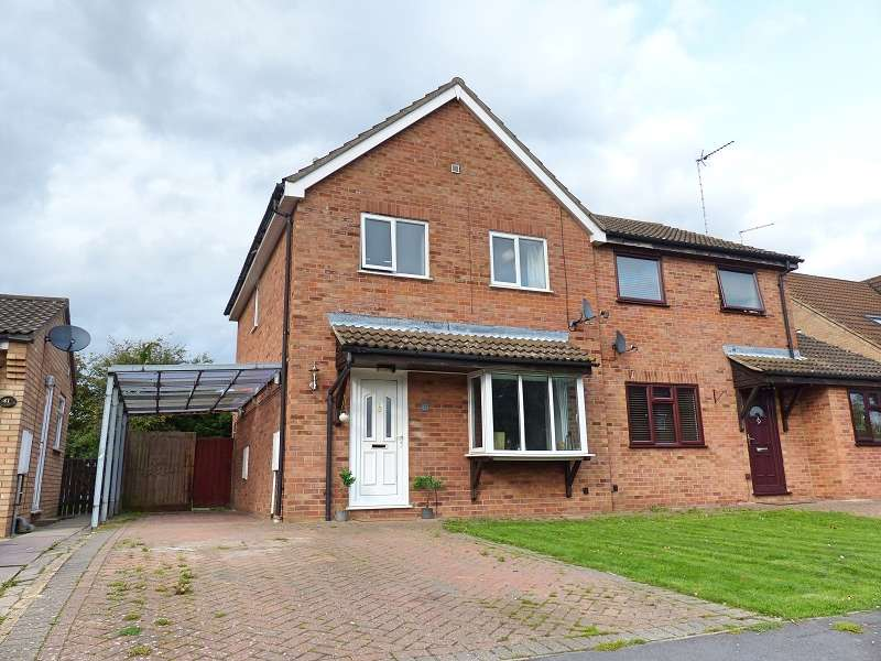 3 Bedrooms Semi Detached House for sale in Stanch Hill Road, Sawtry, Huntingdon, PE28 5XG