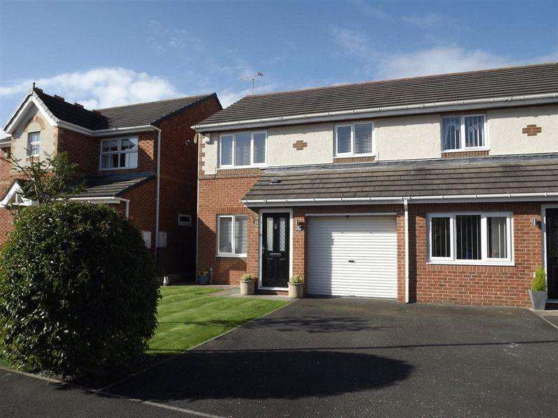 3 Bedrooms Semi Detached House for sale in Gairloch Close, Cramlington