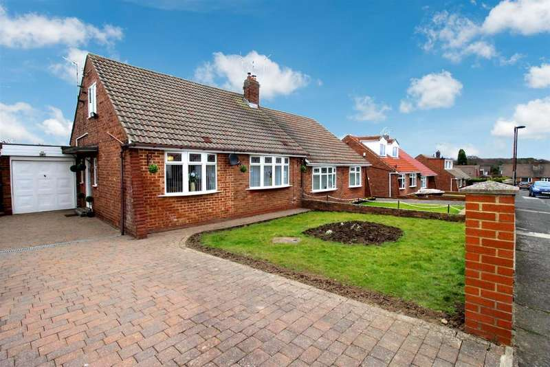 2 Bedrooms Semi Detached Bungalow for sale in Falloden Avenue, Red House Farm, Newcastle Upon Tyne