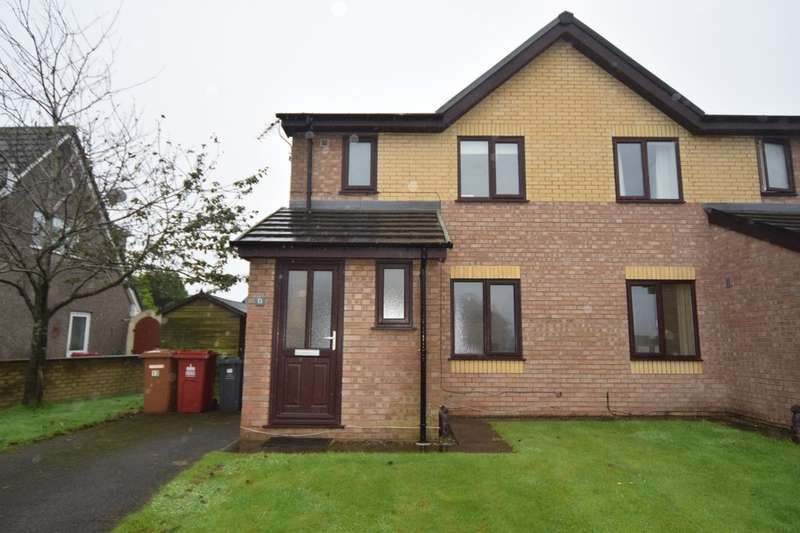 3 Bedrooms Semi Detached House for sale in 13 Crompton Drive, Dalton-in-Furness, Cumbria, LA15 8ND