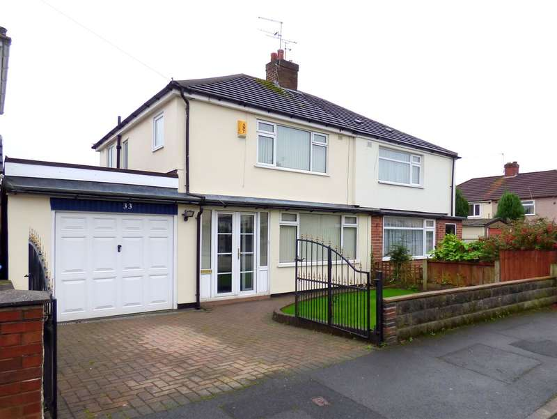 3 Bedrooms Semi Detached House for sale in Cherry Tree Road, Huyton, Liverpool