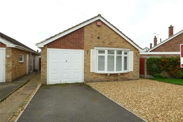 2 Bedrooms Detached Bungalow for sale in Grasmere Crescent, St Nicolas Park, Nuneaton, Warwickshire