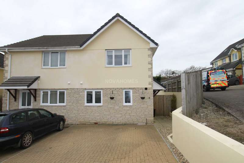 3 Bedrooms Semi Detached House for sale in Petroc Court, St Anns Chapel, PL18 9TF