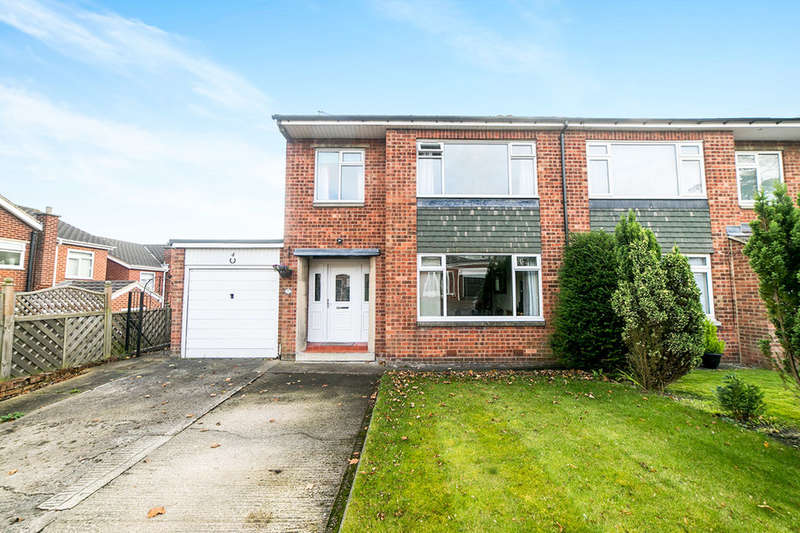 3 Bedrooms Semi Detached House for sale in Elm Court, Whickham, Newcastle Upon Tyne, NE16